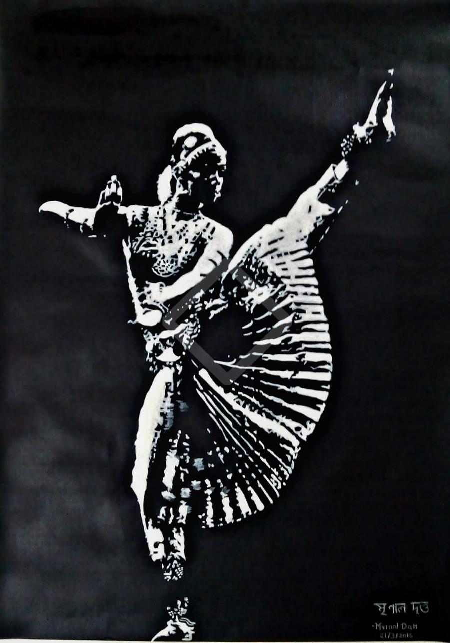 Indian Classical Dance Canvs In